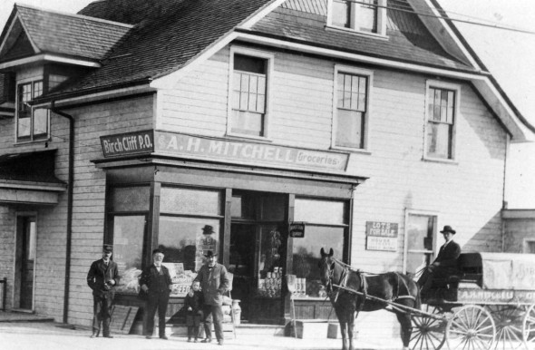 A.E. Mitchell's store. Courtesy Scarborough Archives.