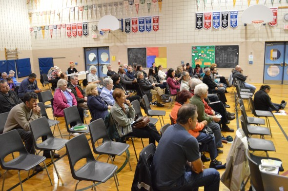 About 75 people attended  Monday's all-candidates debate