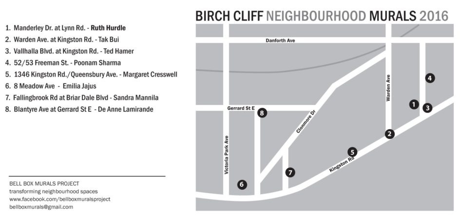Birch Cliff 2016 locations & artists