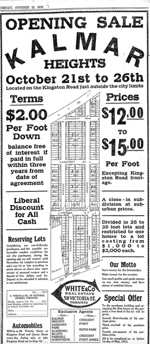 Kalmar Heights advertisement
