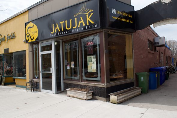 Jatujak's first location on Kingston Rd. in Birch Cliff.