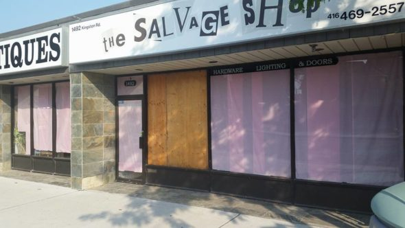 salvage shop closed